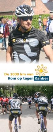 1000km fietsen tegen kanker