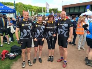 Team 1 en team 2 van Ride2live